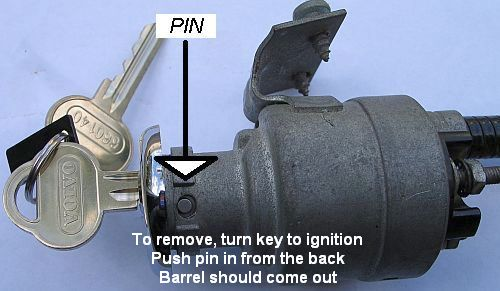 Replacing the ignition barrel